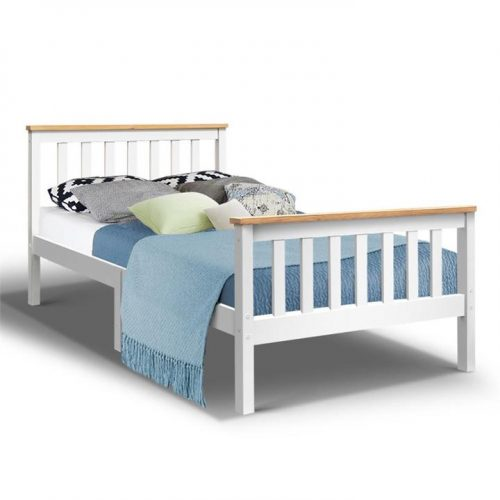 Lorry King Single Timber Bed Frame - White by Interior Secrets - AfterPay Available by