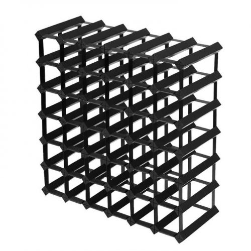 Merlot 42 Bottle Timber Wine Rack - Black by Interior Secrets - AfterPay Available by