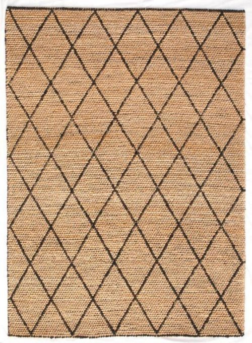 Tempest 170cm x 230cm Jute Rug - Black by Interior Secrets - AfterPay Available by