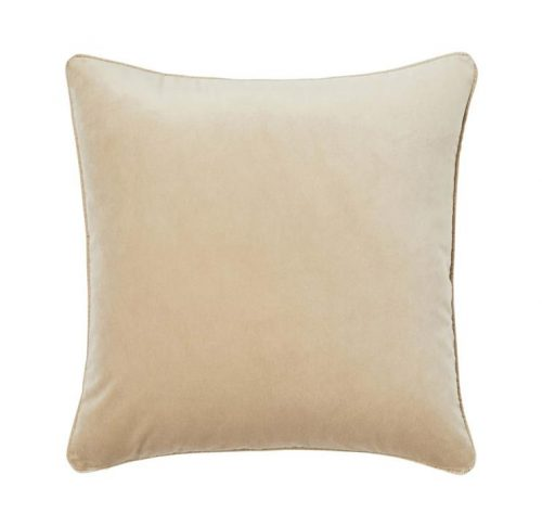 Weave Zoe 50cm Velvet Cushion - Barley by Interior Secrets - AfterPay Available by