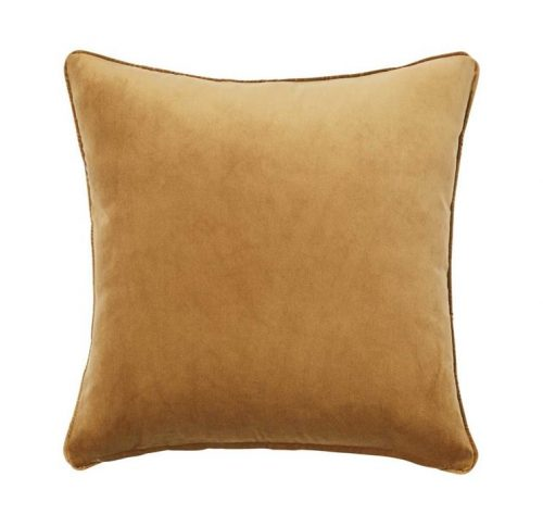 Weave Zoe 50cm Velvet Cushion - Brass by Interior Secrets - AfterPay Available by