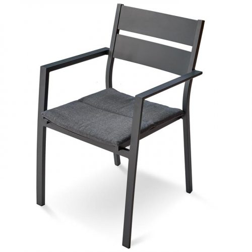 Carolina Metal Outdoor Dining Chair - Charcoal by Interior Secrets - AfterPay Available by