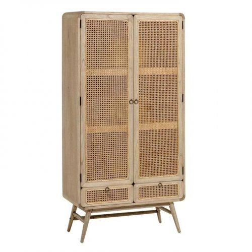 Nalu Rattan Timber Tall Cabinet - Natural by Interior Secrets - AfterPay Available by