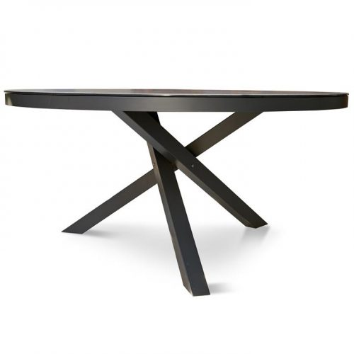 Apollo 150cm Round Ceramic Outdoor Dining Table - Charcoal by Interior Secrets - AfterPay Available by