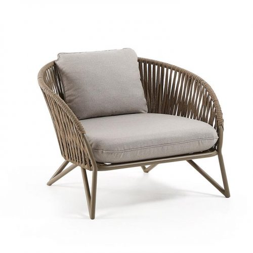 Branzie Fabric Outdoor Armchair - Brown by Interior Secrets - AfterPay Available by