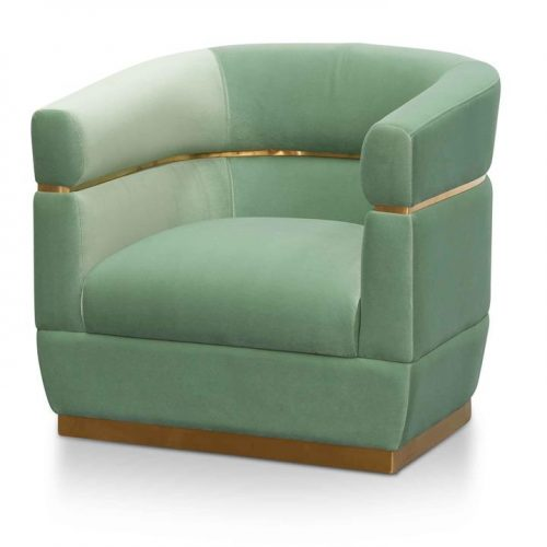 Derick Fabric Lounge Chair - Mint Green by Interior Secrets - AfterPay Available by