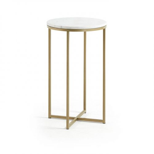 Sheffield Marble Side Table - Gold by Interior Secrets - AfterPay Available by