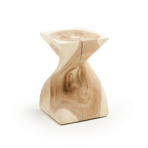 Hakon Solid Mungur Timber Side Table - Natural by Interior Secrets - AfterPay Available by